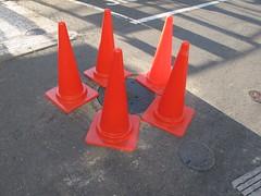 five cones (Samm Bennett) Tags: japan tokyo cone ground uguisudani