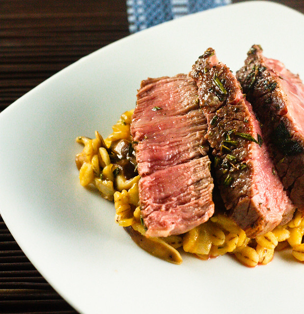 Steak with Barley Mushroom Risotto (1 of 1)