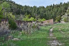Residential Garage Foundation #2 (RootsRunDeep) Tags: sunrise wyoming garage abandoned 1918 1924 1926 decay ruin mine coloradofueliron