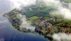 Yvoire in the mist (oobwoodman) Tags: aerial aerien luftaufnahme lakegeneva lake léman luftphoto luftbild lac leman genfersee see cphgva yvoire france frankreich