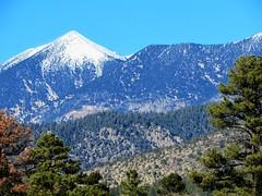 Snow peak (thomasgorman1) Tags: mountain mountains snow snowcap peak winter sky trees ponderosa view landscape skiing arizona flagstaff canon nature