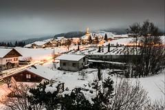 Haute-Savoie, Mont-Blanc, 17 (Patrick.Raymond (3M views)) Tags: alpes combloux village soir nuit montagne neige gel froid hiver hdr nikon nikonflickraward