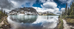 A place by the lake (tibchris) Tags: banff banffnationalpark panorama landscape lake river mountain clouds snow path trees canada alberta