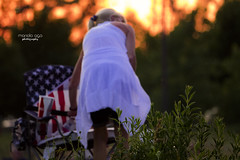 waiting for the show ... (mariola aga) Tags: 4thofjuly independenceday fireworks show sunset woman chair americanflag patriotic bokeh hoffmanestates thegalaxy