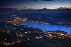 Thun from Above (hapulcu) Tags: alpen alpi alpine alps bern niesen schweiz suisse suiza svizzera swiss switzerland thun dawn lake morning spring sunrise
