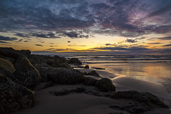 Rocky Shores (niKonJunKy22) Tags: ocean water sunset color rock rocks pacific oregon beach nyebeach newport nikon d700 ngc photography