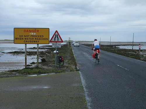 Crossing to Lindisfarne.