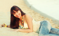 Kate on the beach (LikClick Photography) Tags: girls portrait beac