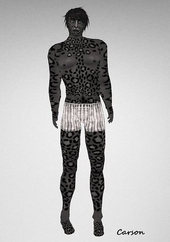Lapointe Leopard NoirBlack  Mens skin, NEKO