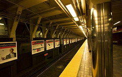the Boston T [party] (MeaghaHertz) Tags: boston subway t vanishingpoint publictransportation metro massachusetts repetition a550