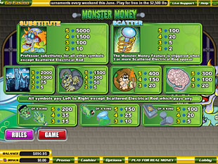 free Monster Money slot mini symbol
