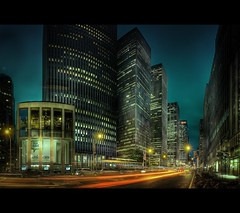 6th Avenue, New York (d.r.i.p.) Tags: street travel light people panorama usa ny newyork skyline lights nikon cityscape manhattan widescreen drip explore 28 bluehour avenue bigapple hdr 6thavenue 6th 2470mm 14mm d80 hdrpanorama 1424mm 2470mmf28g 1424mm28