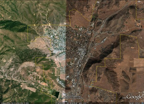Yreka, CA (via Google Earth)