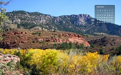 09-10 Horsetooth Autumn Wallpaper (Julie Magers Soulen) Tags: autumn wallpaper mountain tree leaves yellow colorado autumnleaves redrock mesa autumntrees coloradophotography