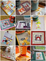 Mug Rug Mosaic (2mayboys) Tags: