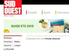 Sud Ouest - 31 août 2010 - Les blogueurs bordelais
