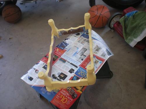 stool base painted