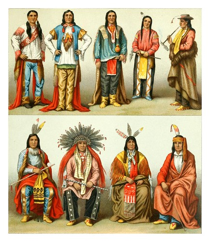 027-Indios Norteamericanos -Geschichte des kostüms in chronologischer entwicklung 1888- A. Racinet