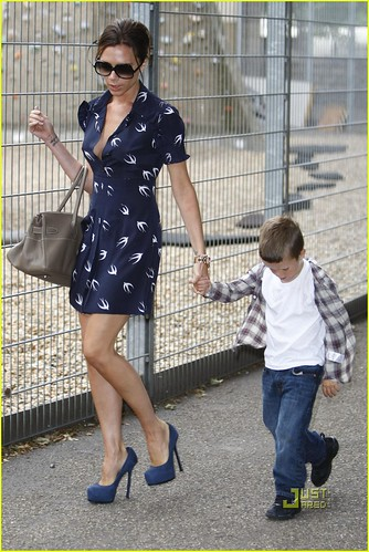 Victoria Beckham & Tanya Ramsey Out With Their Children (USA ONLY)