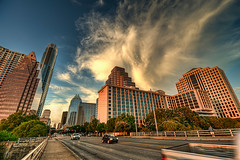 Congress Avenue at Sunset (Apogee Photography) Tags: austin texas hdr congressavenue d5000 topazadjust nikond5000