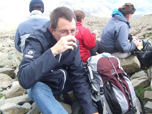 Tea time on Scafell Pike
