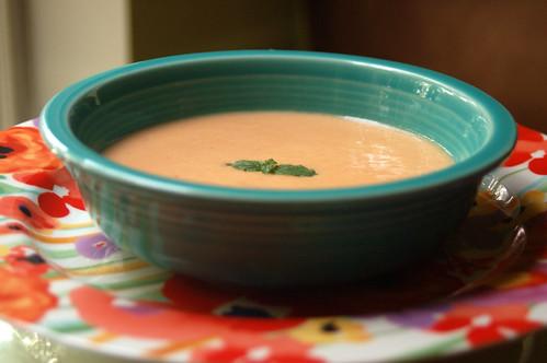 Peach Canteloupe Soup 5
