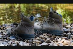 Resting. (Palentino) Tags: shadow summer espaa water rio river spain agua boots stones sombra descansar verano rest salamanca botas piedras