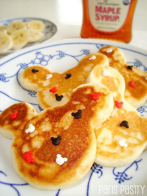 Maple Mickey Mouse Pancakes