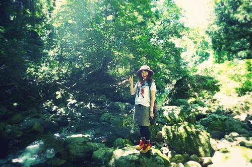 福井で川遊び