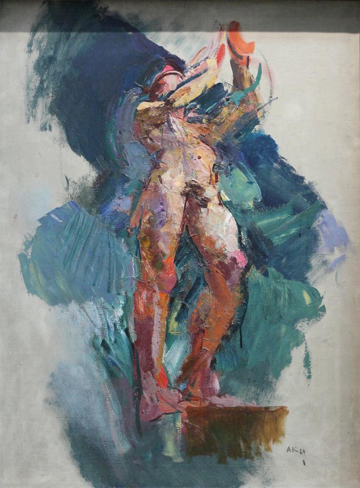 Anton Kolig, Aufschwebender Genius (Skizze zum Deckengemälde der Feuerhalle der Stadt Wien) [Genius Ascending, Sketch for Ceiling Fresco for City of Vienna Crematorium], 1924