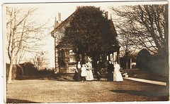 The gingerbread house (Cydril) Tags: family house vintage real photo post antique postcard victorian card photograph edwardian