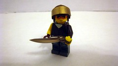 Anime and Steampunk (The Brick Guy) Tags: brown anime lego scifi akira custom cyberpunk steampunk minifigure gunblade exoforce brickarms