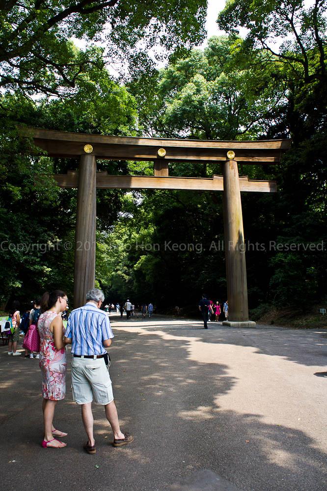 Way to Meiji Jingu Shrine (明治神宮), Tokyo, Japan