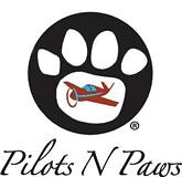 Pilots N Paws logo showing pawprint and airplane