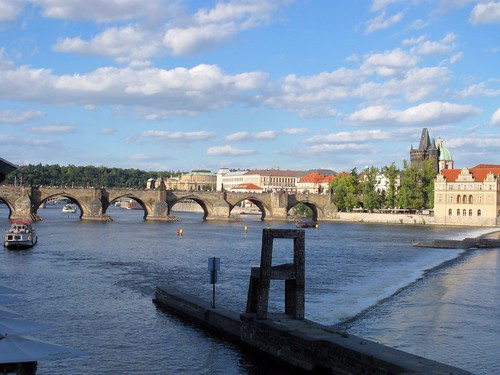 Charles Bridge view from Museum Kampa