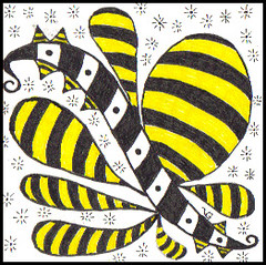 In the Key of Bee (vera.1955) Tags: art doodle zentangle