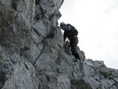 Cypress Peak crux part of the climb.. David is descending.. (iwona_kellie) Tags: friends summer snow canada rock britishcolumbia anniversary rocky glacier celebration summit scramble cypresspeak roecreek squamishcheakamusdivide 2083meters returnafter4years