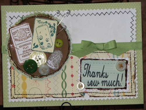 GI - Sept 10 - Thanks Sew Much Card - Ink Stained Roni