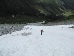 Cypress Peak descent.. (iwona_kellie) Tags: friends summer snow canada rock britishcolumbia anniversary rocky glacier celebration summit scramble cypresspeak roecreek squamishcheakamusdivide 2083meters returnafter4years