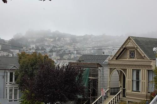 Mist rolling in over Noe Valley
