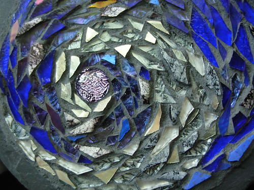 Moon Spiral Mosaic Mandala by Margaret Almon.