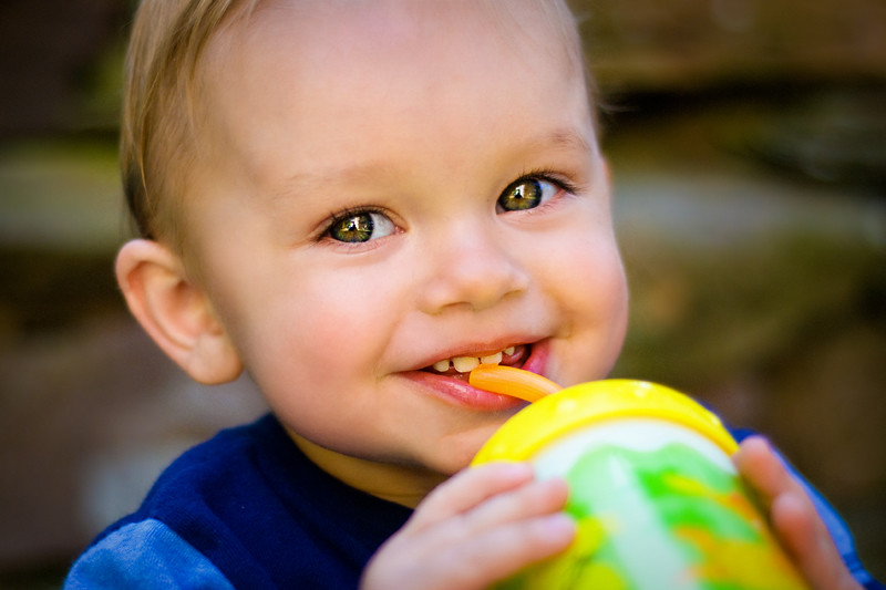 Toddler Boy sippy cup smile BLOG