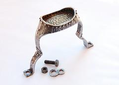 Libertus Bracelet (2010, IT) Bracelet 19.4 (Blind Spot Jewellery) Tags: iron blind contemporary steel jewelry spot jewellery bracelet cuff brass forged jewel wrought blindspot libertus blindspotjewellery