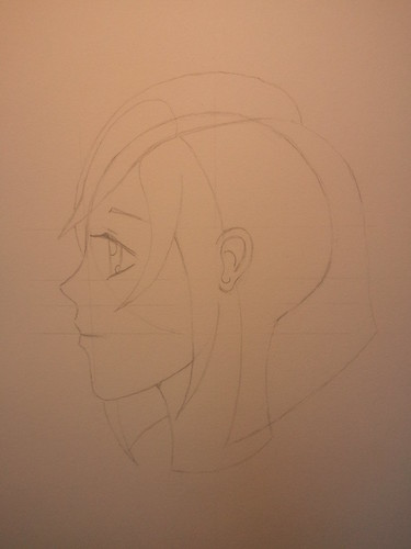 Manga Girl Profile - Step 2 - Hair
