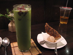 Cha-an (roraa) Tags: japanese milk cookie icecream latte matcha greentea teahouse jasminetea blacksesame tuille chaan