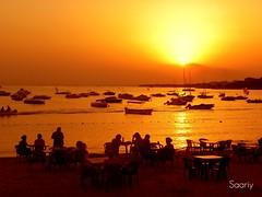 An evening at the coast... ( Sunset of my town ) (*Saariy*) Tags: sunset evening coast silhouettes saariy saariysqualitypictures peopleenjoyingnature theoriginalgoldseal
