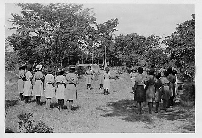Presentation of the Colors Guider Training Camp Ngomahuru Leper Colony and Hospital early 50\'s