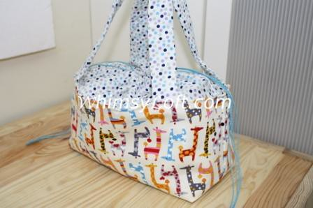 Lunch Bag - polka giraffes