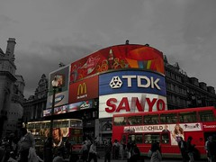 Piccadilly Circus - Wild Child (photosteve101) Tags: street city uk longexposure greatbritain travel red wild england sky people white black colour bus london art colors modern clouds composition wow wonderful catchycolors ads advertising office amazing fantastic europe cityscape child cola superb unitedkingdom circus cab awesome united f