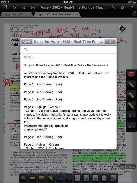 pdf reader highlight notes ipad